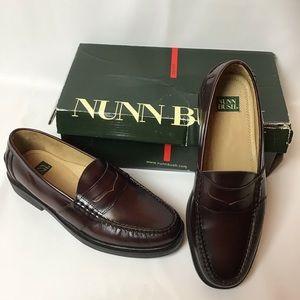 "Nunn Bush- ""Lincoln"" Loafer in Burgundy"